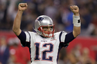 New England Patriots' Tom Brady reacts after the game-tying two-point conversion. Photo / AP