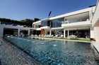 The 85-foot infinity swimming pool at a US$250 million mansion in the Bel-Air area of Los Angeles. Photo / AP