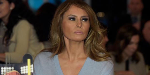 The wording of the lawsuit has alarmed ethics watchdogs as inappropriate profiteering from Melania's high-profile position. Photo / AP