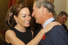 This October 2003 photo shows Tara Palmer Tomkinson, greeting her godfather, Britain's Prince Charles during a reception at Clarence House, London. Photo / AP