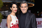 Amal Clooney, left, and George Clooney pictured together in early 2016. Photo/AP
