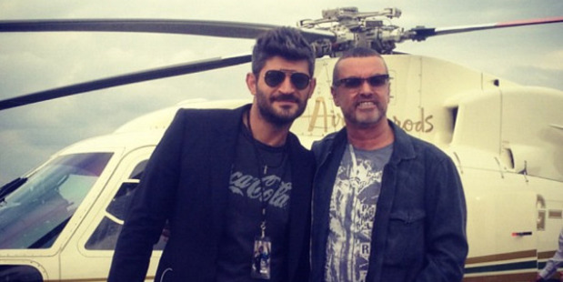 Fadi Fawaz and George Michael. Photo / Supplied via Instagram