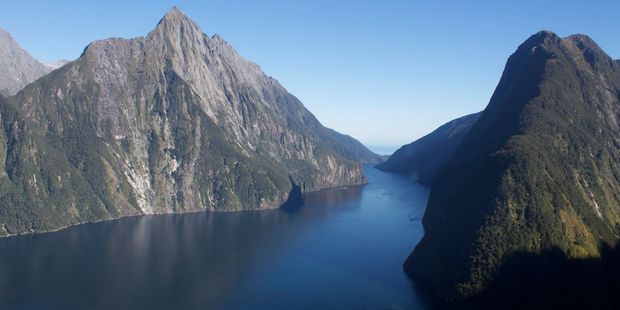 L'Austral was entering the Milford Sound on Thursday when it struck an underwater object. Photo / Supplied.