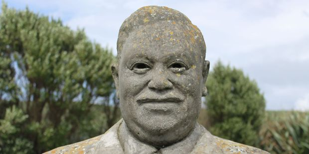 A statue of  Tommy Solomon, considered to be the last full-blooded Moriori. Photo / Jim Eagles