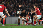 Patrick Tuipulotu playing against Wales last year. Photo / photosport.nz