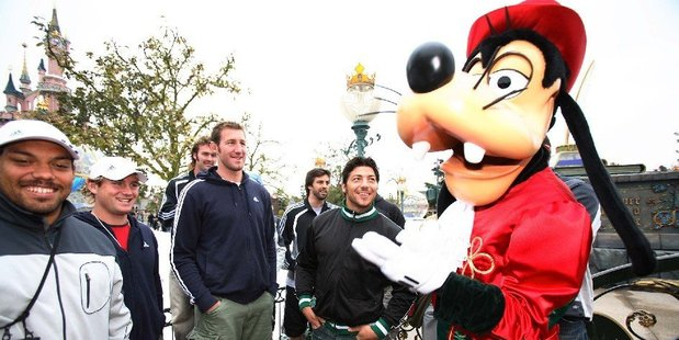 The All Blacks visited Disneyland Paris in 2006. Photo / File