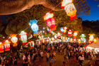 The 18th annual Auckland Lantern Festival runs from tomorrow to Sunday. It will be hosted for the second time at the Auckland Domain since moving from Albert Park. Photo / File