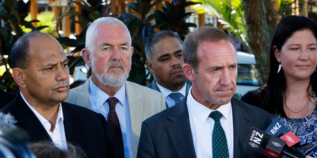 Loading Willie Jackson and Labour Party leader Andrew Little. Photo / John Stone