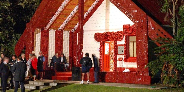 Calls are mounting to move the pre-Waitangi Day politicians' welcoming ceremony from Te Tii Marae to Te Whare Runanga, the carved meeting house, on the Treaty Grounds. Photo / Michael Cunningham