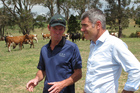 Primary Industries Minister Nathan Guy announced Northland was in drought when he visited Okaihau dairy farmer Roger Hutchings last week.