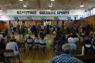 CUTTING EDGE: The Rangitikei Shearing Sports championship in full swing at Marton Memorial Hall on Saturday.