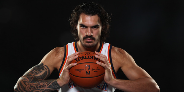 Steven Adams of the Oklahoma City Thunder poses for a portrait during NBA Media Day. Photo/AP Photos