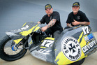 BAY HOPES: Troy Devery, left, and Pete Steigenberger have the potential to podium at this weekend's Meeanee-hosted North Island Sidecar Championship. PHOTO/WARREN BUCKLAND