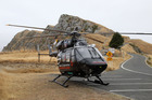 The Lowe Corporation Rescue Helicopter attended the scene at Te Mata Peak yesterday. Photo/Duncan Brown.
