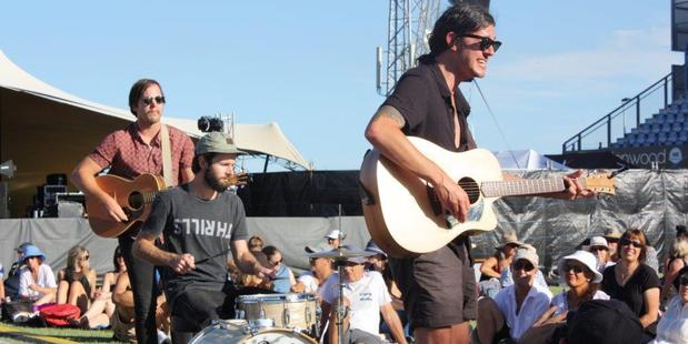 Loading Beny Unplugged: The power cut didn't deter Tipene and his bandmates. Photo/Northland Advocate