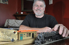 Otane resident and model train enthusiast Bill Dysart is one of the driving forces behind a plan to build a replica of the town's railway station, which will hopefully bring back Art Deco devotees who don't stop at the rural CHB town as often as they once did. Photo / Clinton Llewellyn
