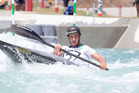 Zac Mutton competing at the Oceania canoe slalom championships last week. Photo/Jamie Troughton/Dscribe Media