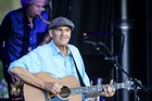 POLISHED PERFORMER: James Taylor got up close personal with the crowd at Church Rd Winery on Sunday. Photo Warren Buckland