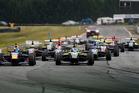 Toyota Racing Series cars in action at Teretonga. Photo / Matthew Hansen