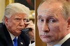 US President Donald Trump and Russian President Vladimir Putin. Photos / AP