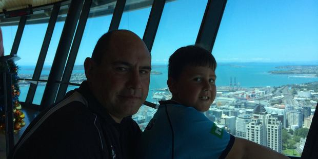 David Little and his son, Angus Little, during a visit to Auckland. Photo / Supplied via Facebook