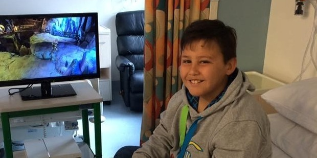 Angus Little would play Minecraft to distract himself from chemotherapy. Photo/Facebook