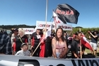 Anti 'P' protesters have converged on Te Tii Marae at Waitangi ahead of tomorrow's Waitangi commemorations.
