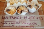Specially crafted Waitangi muffins found at Leigh Eats on Waitangi Day.
