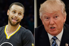 NBA star Stephen Curry and US president Donald Trump. Photos / AP