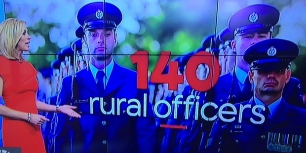 """This clip on TV One news on Thursday showed RNZAF regular force,"" writes Brendon Wood. Shame the story was about police numbers."