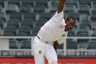 Kagiso Rabada's graceful 150km/h-plus rockets are proving an asset for South Africa. Photo / AP