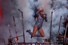 Supplied by Associated Press via NFL-FOX.    Lady Gaga performs at Super Bowl Halftime Show.