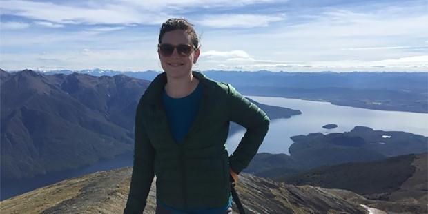 Julie Anne Genter on Mt Luxmore.