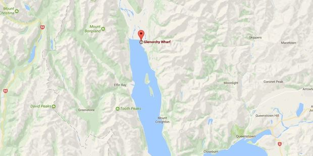 The crash occurred north of Glenorchy, which is at the head of Lake Wakatipu. Photo / Google Maps
