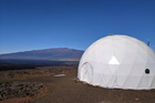 Six scientists crammed into this dome for a year to see what it would be like to live on Mars. Photo / AP