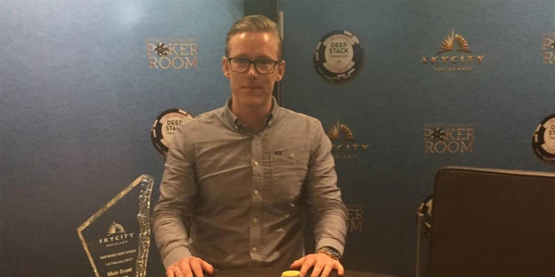 Norwegian poker player Espen Myrmo took home $40,000 for winning the Waitangi Deepstack Main Event.