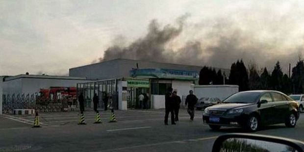 The fire at the Samsung plant was described as minor, and officials reported that it didn't halt production. Photo / Weibo