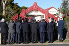 A bus load of ambassadors, high commissioners and other diplomats were welcomed on to Te Tii Marae at Waitangi early this morning. Photo / Jason Oxenham