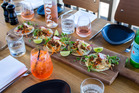 Viva Eating Out: The pork tacos on the menu at Porch restaurant in St. Heliers. 09 February 2017 New Zealand Herald photograph by Babiche Martens