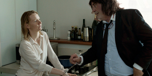 "This image released by Sony Pictures Classics shows Sandra Huller as Ines, left, and and Peter Simonischek as Winfried in a scene from the Komplizen Film, ""Toni Erdmann."" The film was nomina"