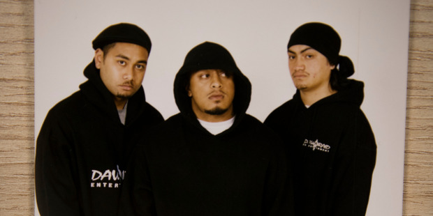 J-One, Tek and Venomous from Red Eye Society, 2002. Photo/Dawn Raid