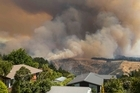 Fire rages in the Adventrue Park area of the Port Hills, Christchurch 15 February 2017