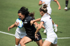 New Zealand's Portia Woodman in action in the Olympics womens sevens match against France. Photo/Photosport