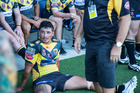 Former Warriors fullback Kevin Locke cools down after his outing with Sunshine Coast Falcons.