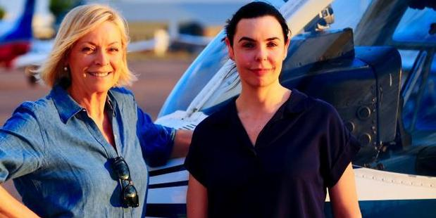 Liz Hayes with Joanne Lees. Photo / Channel 9