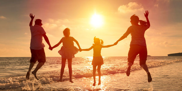 A family holiday was the main reason for Kiwis to travel. Photo / 123RF