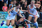 Kelsey Smth and Liz Thompson in action for the Black Sticks. Photo / Photosport