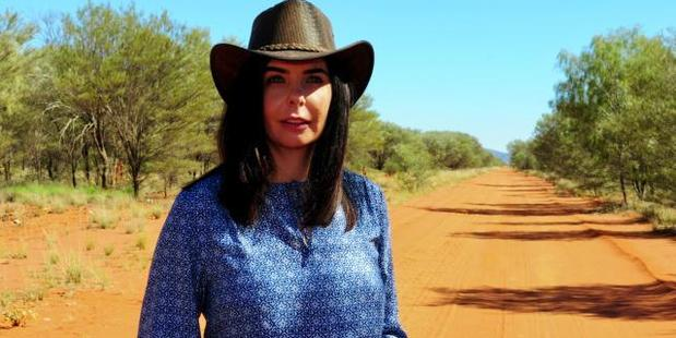 Joanne Lees went back to the Northern Territory's Stuart Highway where she lost her boyfriend forever. Photo / Channel 9