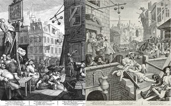 "Art has been used to attack dangerous drugs since the days of William Hogarth's ""Gin Lane"" prints."