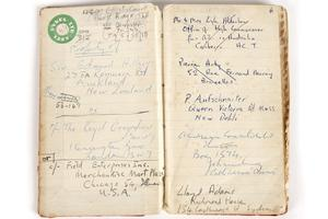 Sir Edmund Hillary's notebook for auction